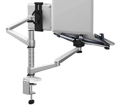 Mingo Labs OA-9X Dual Laptop and Tablet Desktop Mount, Silver by Mingo Labs