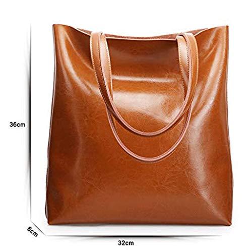 XYZMDJ axelväska PU tygväska - enkel stor kapacitet messengerväska multifunktionell stor kapacitet bärbar shoppingväska stor väska