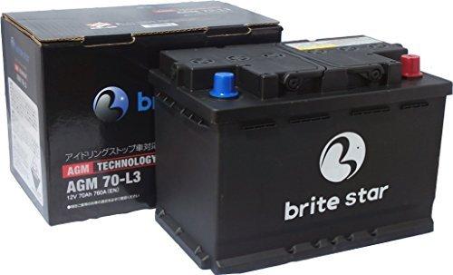 Brite Star ブライトスターバッテリー 輸入車用 AGM 70-L3 アイドリングストップ車、充電制御車対応 B01ABHY9UI