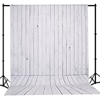 Mehofoto 5×7ft Seamless Photo Backdrop Vintage Wood Photography Background White Wood Backdrop Vinyl