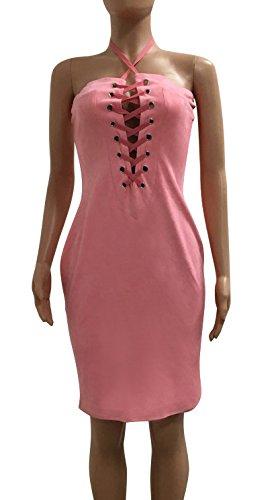 Singh S Madan Kleid Damen Wickelkleid Knielang Businesskleid