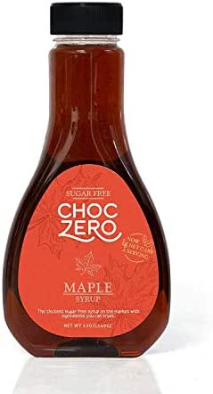 ChocZero's Maple Syrup. Sugar free, Low Carb, Sugar Alcohol free, Gluten Free, No preservatives, Non-GMO. Dessert and Breakfast Topping Syrup. 1 Bottle(12oz)