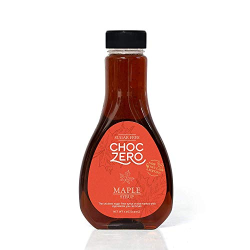 ChocZero's Maple Syrup. Sugar free, Low Carb, Sugar Alcohol free, Gluten Free, No preservatives, Non-GMO. Dessert and Breakfast Topping Syrup. 1 -