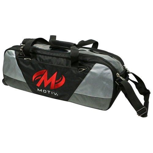 Motiv Ballistix 3ボールトートバッグボーリングバッグブラック/グレー/レッド B075827JZ4
