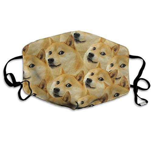 Funny Doge Pattern Meme Mouth Chic Mask Unisex Anti-Dust Chic Mask Reusable Chic Mask for Men and Women ()