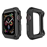 Product review for Lyperkin Compatible with Apple Watch Band 44mm Case, Shock-Proof Protective Case 2-in-1 Soft Silicone Two-Tone Bumper Case Cover Replacement Watch Case Compatible with Apple Watch Series 4