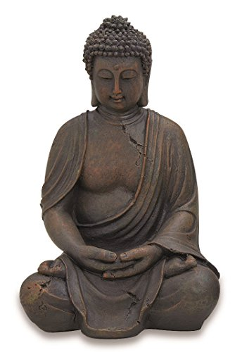 Buddha-Figur, Buddha-Skulptur, Gartenfigur, sitzender Buddha, Höhe 40 cm, 1 Stück