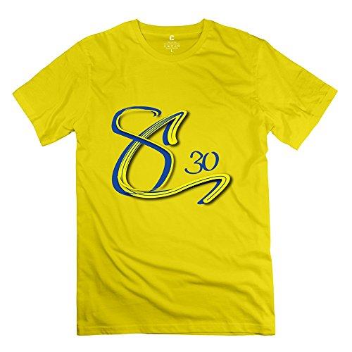 TGRJ Men's T Shirt - Funny Sc 30 Stephen Curry Tshirt Yellow Size S