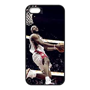 DIY case 2 NBA Lebron James Print Black Case With Hard Shell Cover for Apple iPhone 5/5S