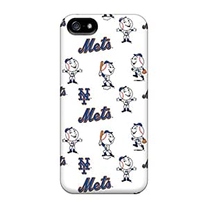 Ultra Slim Fit Hard Drcases Case Cover Specially Made For Iphone 5/5s- New York Mets