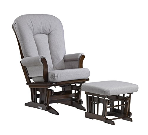 Superieur Dutailier Sleigh Glider And Ottoman Set, Coffee/Pebble Grey By Dutailier