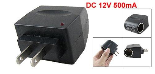 US 2 Pin Plug AC 110-220V to DC Cigarette Lighter Socket Adapter