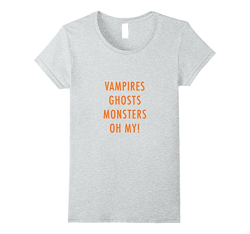 Diy Costume De Vampire (Womens Vampires Ghosts Monsters Oh My! Funny DIY Halloween Costume Small Heather Grey)