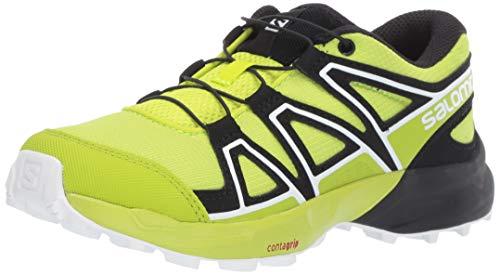 Boys Lime Green - Salomon Kinder Speedcross J, Trailrunning-Schuhe, acid lime/lime green/white, 4