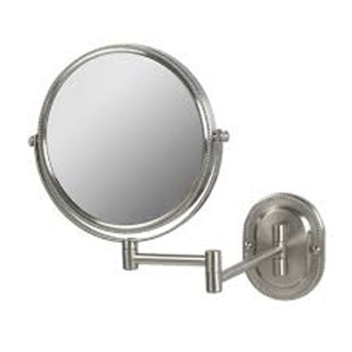 SeeAll JNSA897 Non-Lighted 8'' Diameter Wall Mounted Make Up Mirror 7X, Nickel by SeeAll