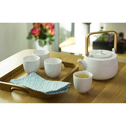 casaWare Serenity 7-Piece Tea Pot Set (White) by casaWare (Image #1)