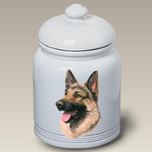 German Shepherd Dog – Linda Picken Treat Jar, My Pet Supplies