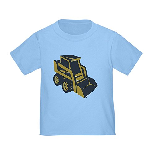 CafePress Skid Steer Digger Truck Toddler T-Shirt Cute Toddler T-Shirt, 100% Cotton Baby Blue