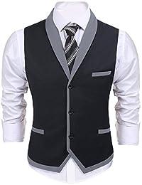 playera con cuello de pico sin mangas slim fit – Chaleco, chamarra Business suit Vestido de chaleco