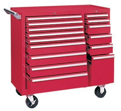 Waterloo Cart (Kennedy Manufacturing 315XR 15-Drawer Rolling Tool Storage/Chest//Box Cabinet/ Sliding Drawers, 39