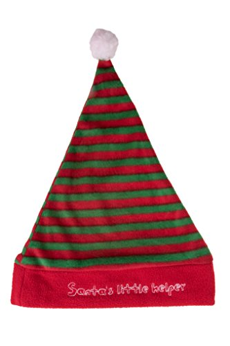 (Clever Creations Novelty Red and Green Christmas Holiday Santa's Little Helper Hat One Size Fits Most Christmas Hat )
