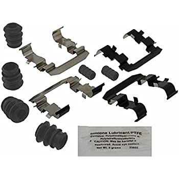 and Bushings Seals ACDelco 18K458X Professional Front Disc Brake Caliper Hardware Kit with Clips