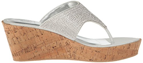 Greet Yellow Sandal Silver Wedge Women's Box qxpxaCv
