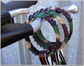 Ride On Camo Knobby DirtBike Tire Wristband
