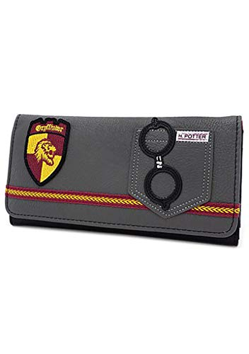 - Loungefly x Harry Potter Gryffindor Trifold Wallet (Grey, One Size)