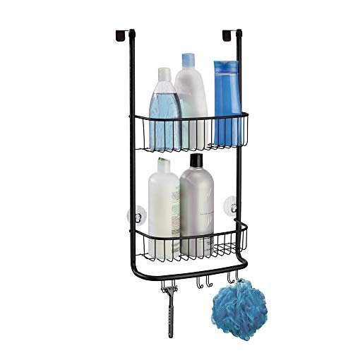 - InterDesign InterDesign Forma Over Door Shower Caddy – Bathroom Storage Shelves for Shampoo, Conditioner and Soap, Matte Black
