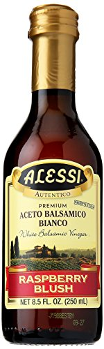Alessi Foods White Balsamic Raspberry Blush Vinegar, 8.5 oz