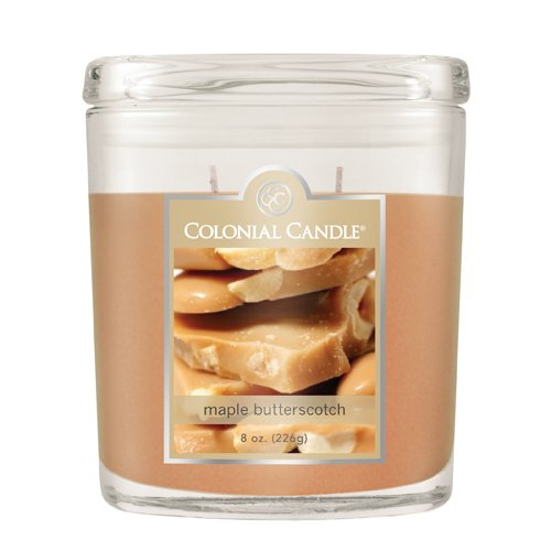 Colonial Candle Autumn Collection Maple Butterscotch 8-Ounce Oval Jar Candle