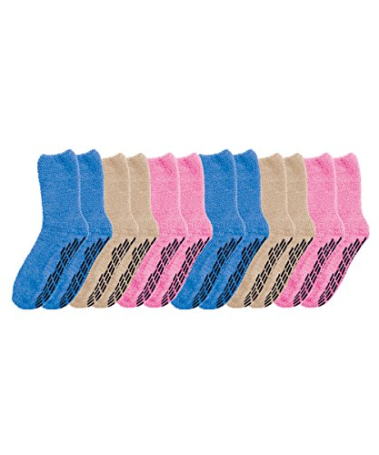 Non Skid Socks - Hospital Socks - 6 Pack - Women's Pack One Size from Silvert's Senior Care