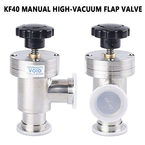 Kf-40 L Type Vacuum Angle Valve,Manual Kf-40 Angle Valve 1PC High-Vacuum Flap Pump Flange Fitting Stainless Steel High Vacuum Right Bellow for Isolation Us Flangemanual Seal from LOYALHEARTDY19