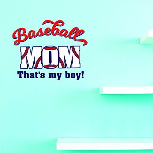 Design with Vinyl JER 2299 3 Hot New Decals Baseball mom. That's my boy. Wall Art Size: 20 Inches x 30 Inches Color: Multi 20