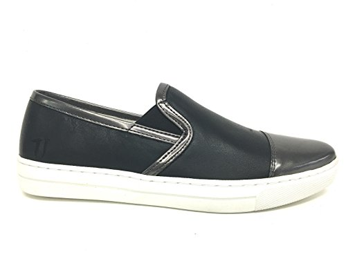Scarpe Jeans Donna PUNTINA Pelle Slipon Nera Trussardi DS16TJ03 BTUzqxz