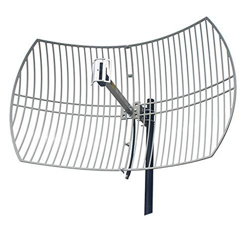 LS Antena de 2,4 GHz de Alta Ganancia 24dBi WiFi Red inalámbrica direccional Receptor inalámbrico potenciador de Alta...