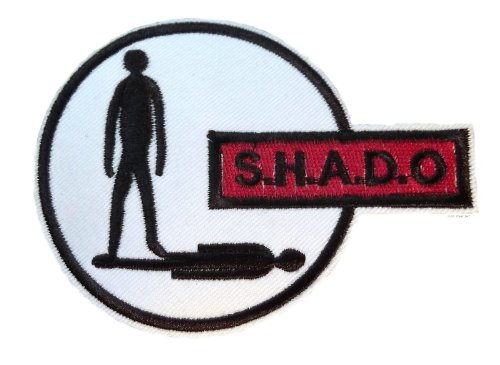 """UFO SHADO Gerry Anderson TV Series Logo 4"""" Wide Embroidered for sale  Delivered anywhere in USA"""