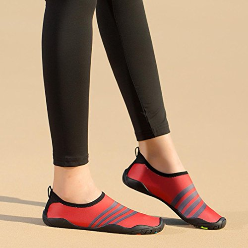 Drying Beach Diving Outdoor Yoga Snorkeling Barefoot Red Swim Shoes HLHN Socks Quick Men Women Surf Shoes Sport Unisex Breathable Water Rqxz7X