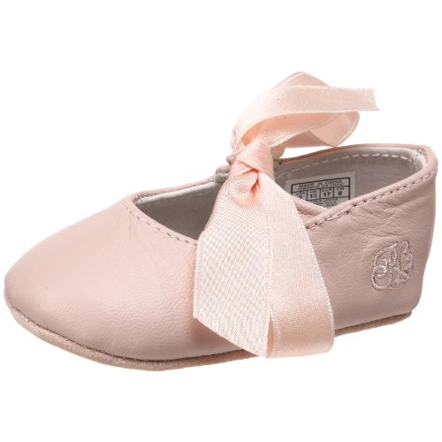 Ralph Lauren Layette Briley Ballet Crib Shoe (Infant/Toddler),Pink Lambskin,1 M US Infant