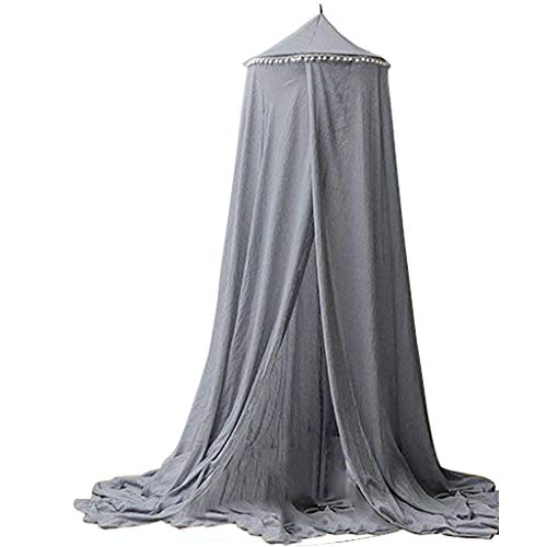 Highpot Hanging Bed Canopy Mosquito Net - Hideaway Tent Canopies for Girls, Boys, Kids Rooms, Beds or Cribs (Gray)
