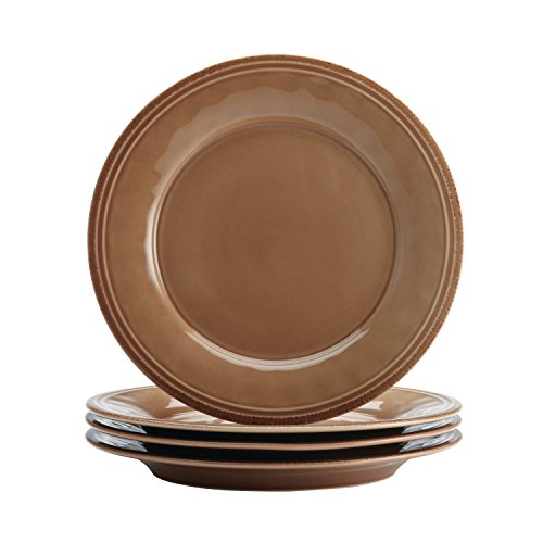 Dark Brown Stoneware - Rachael Ray Cucina Dinnerware 16-Piece Stoneware Dinnerware Set, Mushroom Brown