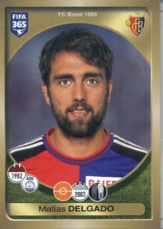 fan products of 2016-17 Panini FIFA 365 #227 Matías Delgado FC Basel 1893 Soccer Sticker