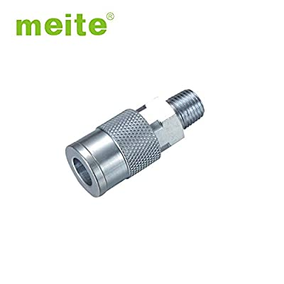 meite UO1-2SM-2 Milton Type 1/4'' NPT Industrial Thread Male Quick Coupler Pipe Fitting Air Hose Connector Fitting