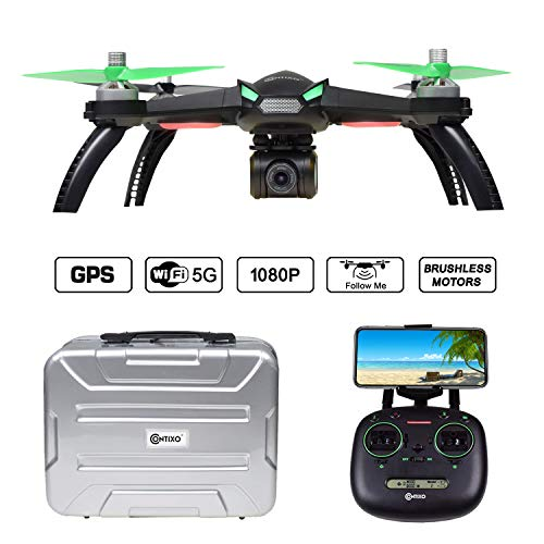 Contixo F20 RC Remote App Controlled Quadcopter Drone   1080p HD WiFi Camera, Follow Me, Auto Hover, Altitude Hold, GPS, 1-Key Takeoff/Landing, Auto Return Includes Custom Drone Carrying Storage Case