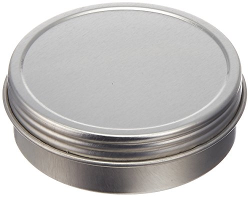 Paper Mart 6518200P Screw Top Round Steel Tins, 2-Ounce, 24-Pack (Large Ounce Tin 2)