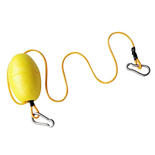 MonkeyJack Floating Accessory Leash with Single Float & Double Ended Clip for Grip Kayak Fishing Accessory 29