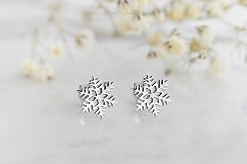 Gold Snowflake Earrings, 9K, 14K, 18K Gold Earrings, for sale  Delivered anywhere in USA