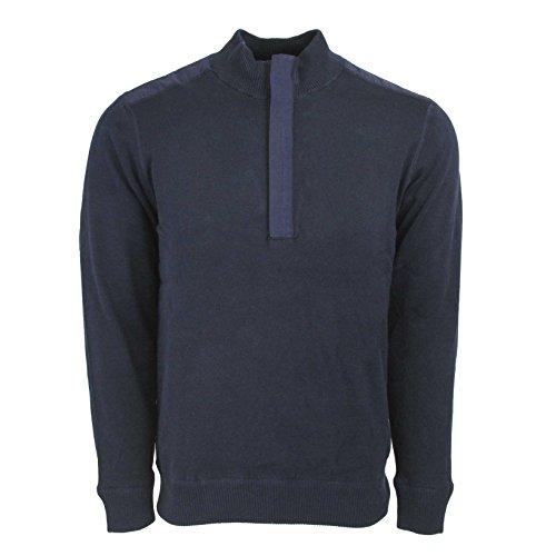 Ashworth Men's Pima 1/2 Zip Pullover Sweater Navy M (Pima Golf)