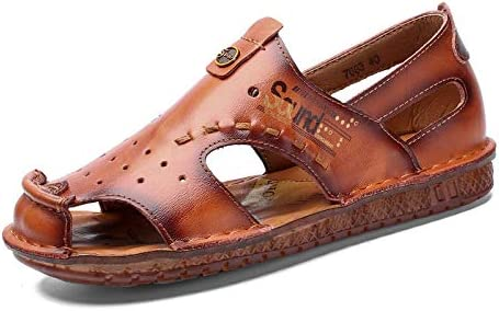 Sommer neue Sandalen Herren Outdoor Strandschuhe handgefertigte lässige Herrenschuhe-Schwarz 7683_48